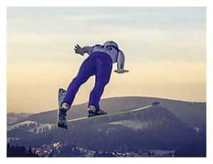 Skispringer in Titisee